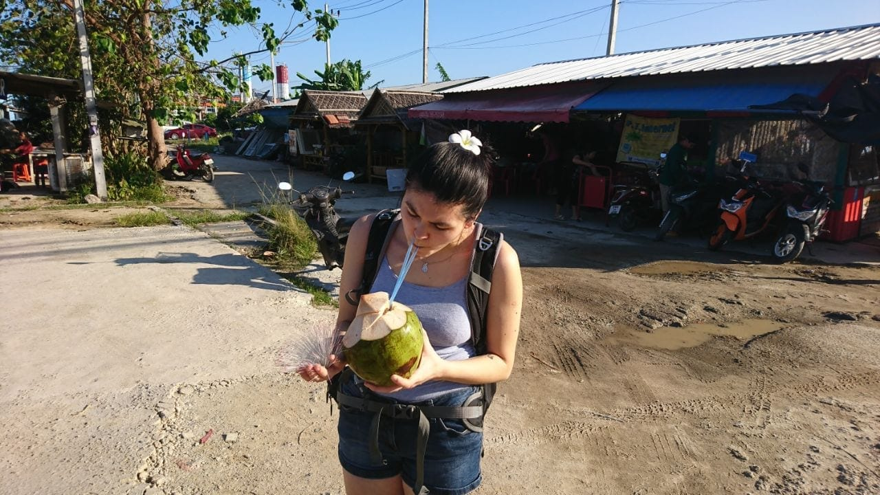 Our first Coconut in Phuket