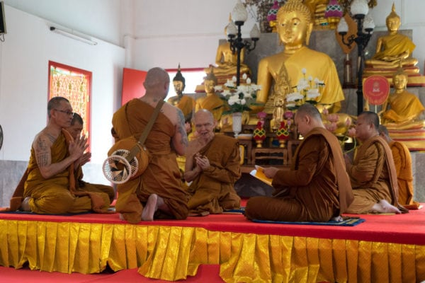 Becoming a Buddhist monk
