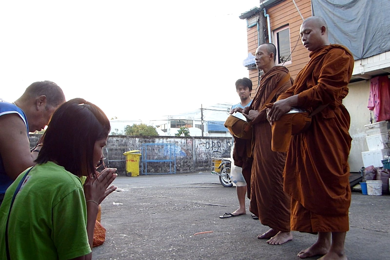 Ben's first day as a Buddhist monk